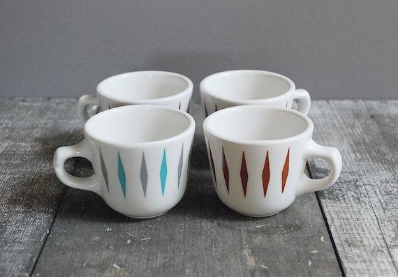 Vintage Mid-Century Coffee Cups