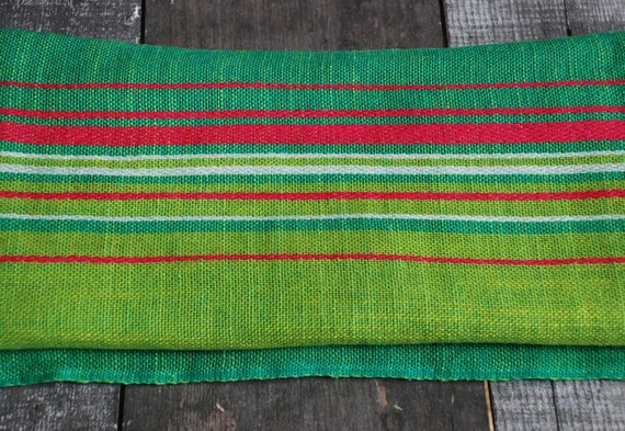 Vintage Norwegian Colorful Woven Tablecloth / Fabric