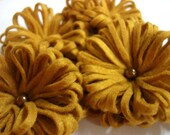 Set of 4pcs handmade felt PomPom - gold (FPP)