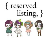 reserved listing for Hayley