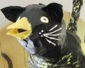 Folk Art Sculpture - Catbird