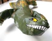 Folk Art Lizard Papier Mache
