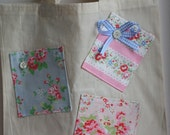 GORGEOUS Shabby Chic Handmade cotton canvas and Cath Kidston Bag