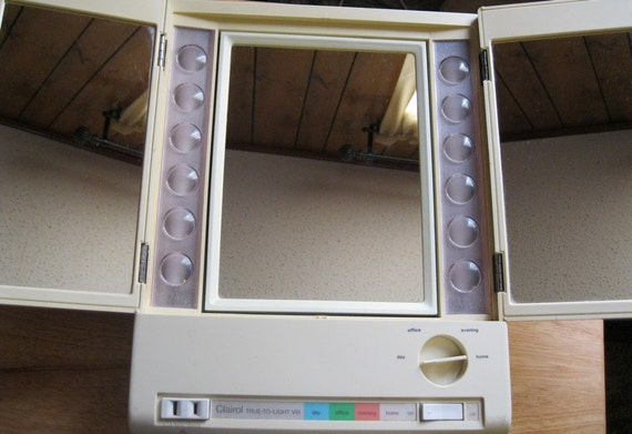 Vintage Clairol True To Light Viii Vanity Mirror By