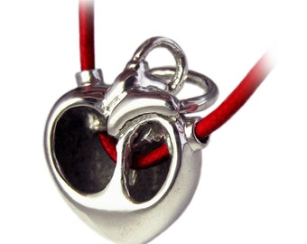 SALE Core - Modern Anatomical Heart Pendant - Rickson Jewellery Design