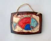 Lovely Ceramic Tile with Fish Figure