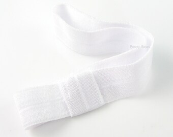 Interchangeable headband - white headband - infant headband - newborn headbands - baby headband - fold over headband - stretchy elastic girl