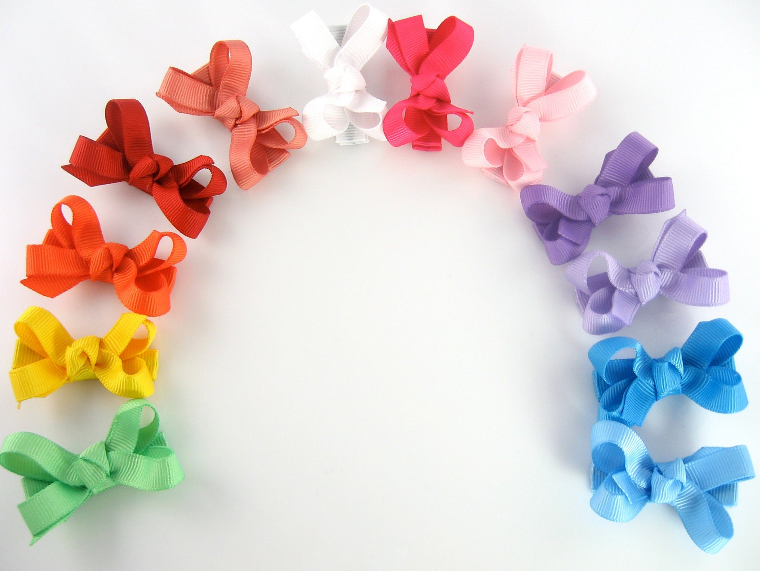 12 pack baby hair bows 70 colors choices small