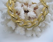 Napier Goldtone Necklace Chunky Vintage