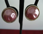 Pink Thermoset EarringsVintage