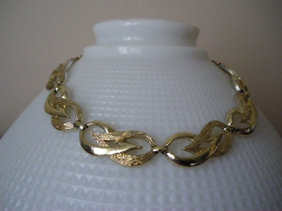 Chunky Coro Necklace Goldtone Vintage