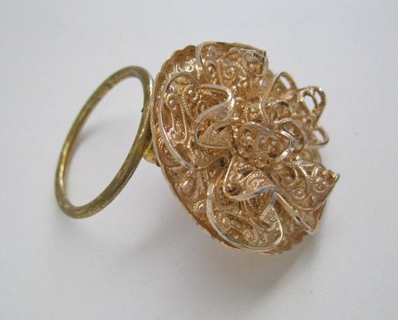 Vintage Scarf Clip Western Germany Rose Gold Tone
