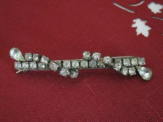 Rhinestone Barrett Bridal Jewelry Vintage