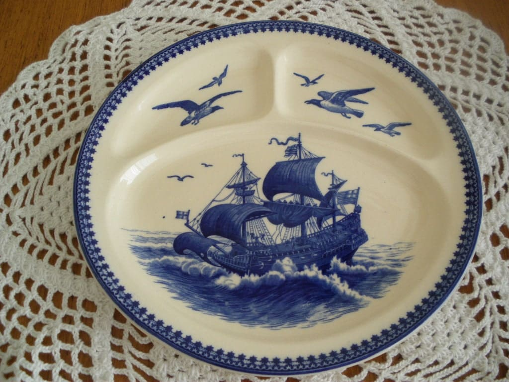Vintage villeroy and boch nautical design divided plate for Villeroy and boch plates
