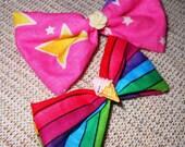 Rainbow Bright Hair Bow Set