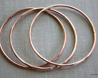 Extra Large Copper Circles, Handmade Jewelry Findings