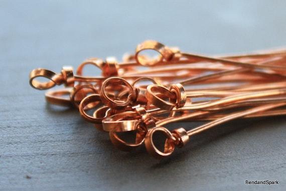 Bend and Spark Original 10 Handmade Headpins 20 Gauge Layered Ribbon Design