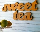 Sweet Tea Sign Southern Saying Wall Art