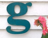 Lowercase Letter Alphabet Wooden Distressed Painted Letter Wall Decor Your Choice of Letter