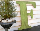 Distressed Large Letters 24 inch Extra Large Wooden Letters Shabby Chic Available in letters A-Z