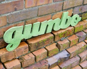Gumbo Wood Sign Southern Sign Kitchen Decor Cooking Sign Cajun Food New Orleans