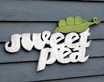 Sweet Pea Sign Nursery Art
