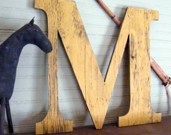 "Large Wooden Letters 18"" Letter Capitol Display Wall Letters Oversized Dorm Decor Wedding Back to School"