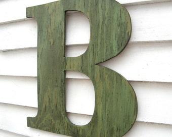 24 extra large letter wall decor wooden letter big by havenamerica. Black Bedroom Furniture Sets. Home Design Ideas