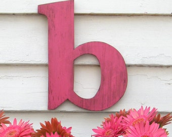 Lowercase Letter Wooden Distressed Wall Letter Personalize, Customizable Dorm Decor Wedding Teen