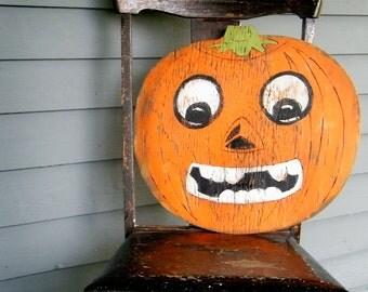 Pumpkin Wooden Sign Retro Halloween Decor Party Decoration Vintage Style