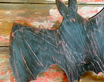 Vampire Bat Sign Fangs Blood Spooky Creepy Halloween Party Decor