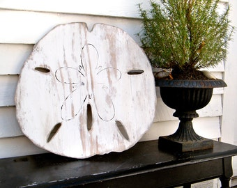 Oversized Sand Dollar Sign Giant Sand Dollar Coastal Style Beach Cottage Decor Gulf Coast