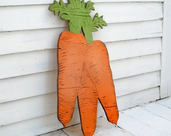 Carrot Sign Wooden Farm Stand Vegetable Sign