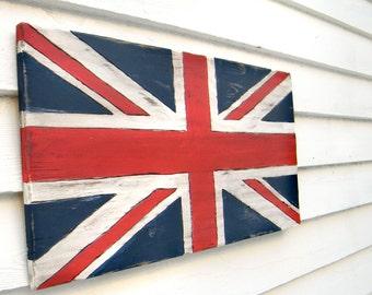 Union Jack Sign Flag British Sign Wooden Flag Sign