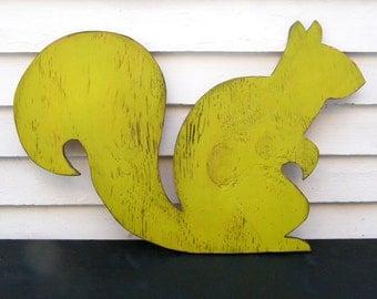Squirrel Nursery Art Wooden Sign Woodland Animal Sign Oversized Large Sign