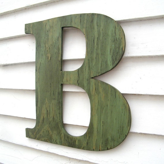 "Large Wooden Letters Oversize 18"" Capitol Display Alphabet"