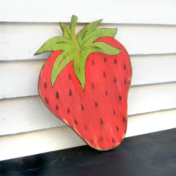 Strawberry Garden Sign Farm Stand Sign Summer Harvest