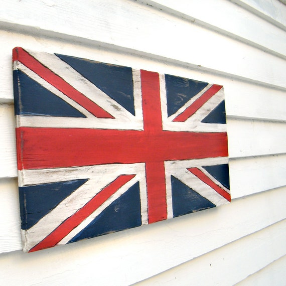 Union Jack Sign Flag British Sign Wooden Flag Sign