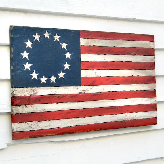 US Flag Sign American Flag 13 Stars Historic American Flag Distressed American Flag