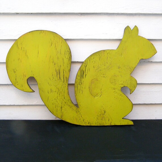 Squirrel Nursery Art Wooden Sign Woodland Animal Sign Oversized Large Sign
