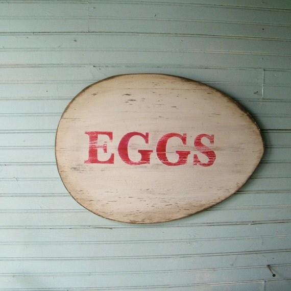 Egg Sign Roadside Chicken Egg Farm Stand Kitchen Wall Art