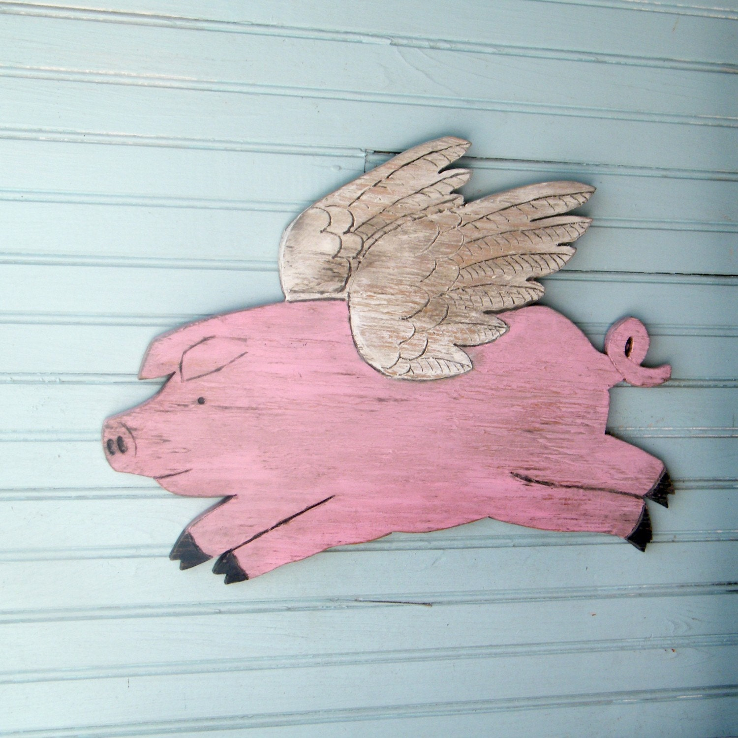 Flying Piggy When Pigs Fly Pig with Wings by SlippinSouthern