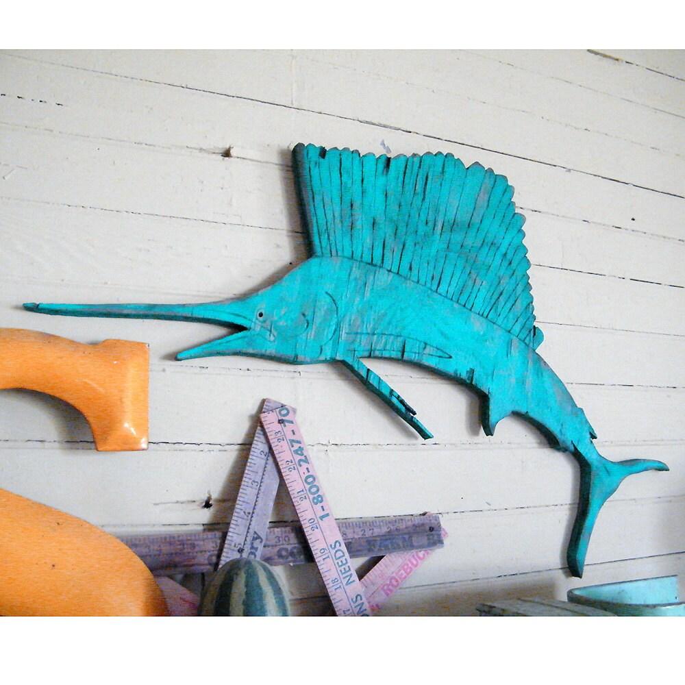 Wood Sailfish Saltwater Fish Art Wooden Fish Wall Art Gifts