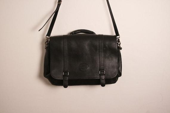 sale. Eddie Bauer Leather Black Book Bag