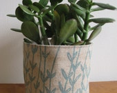 Linen Planter in Blue Lavender