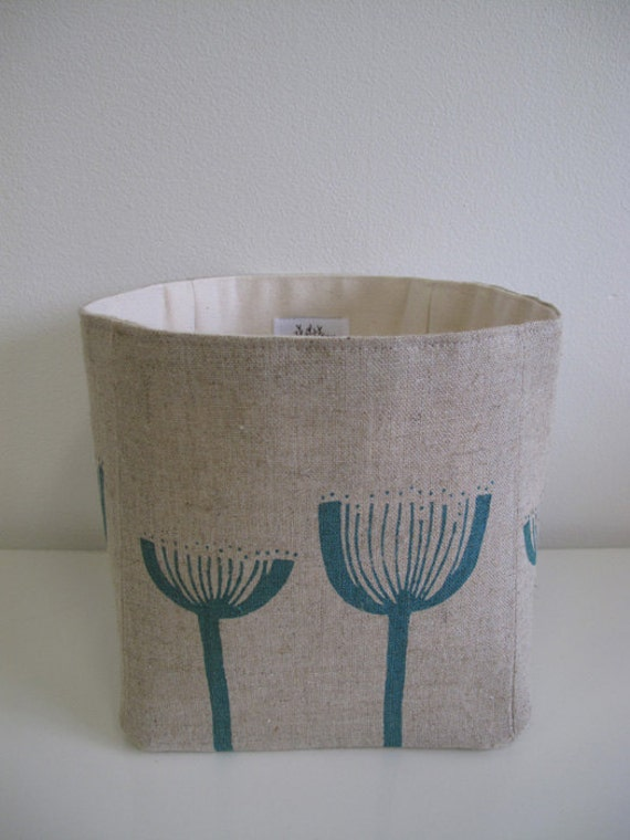Twig Tub Storage Container - Dryandra in Teal