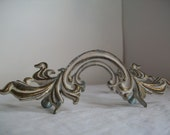 pair of vintage drawer handles for furniture making . vintage furniture parts . vintage shabby chic furniture