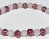 Purple Bead Bracelet Beaded Jewelry Purple Beaded Bracelet Pink Glass