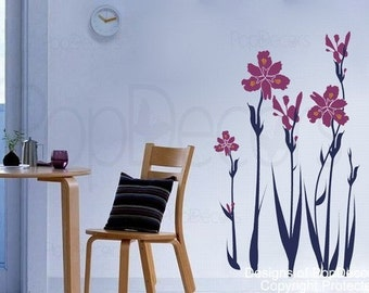 Iris decals - 31.5inch H- Wall  Decals Stickers Home Decor by Pop Decors