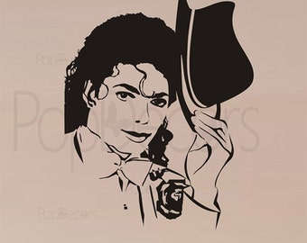Michael Jackson Wall Decals - 30 inch H-  Removable Vinyl Wall Sticker decors by Pop Decors